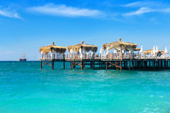 Pier and tropical sea Stock Image