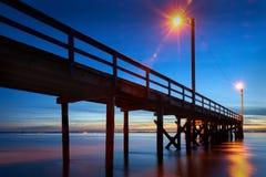 Pier Twilight. Crescent Beach Pier near White Rock at twilight. Surrey, BC, Canada Stock Photos