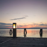 Pier at twilight Stock Image
