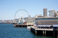 Pier und Gaststätte Stockbilder