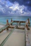 Pier under construction Stock Photos