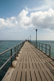 Lonley pier Stock Photography