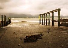 Pier van Kaikoura Stock Foto
