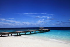 Pier van maldivian eiland Stock Foto