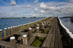 Pier in Veere, the Netherlands Royalty Free Stock Image