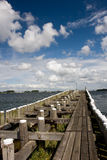 Pier in Veere, Netherlands. Royalty Free Stock Images