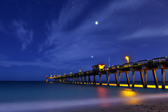 Pier at venice beach florida Royalty Free Stock Image