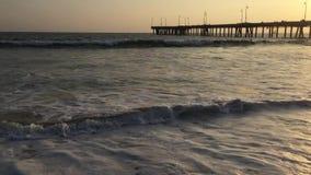 Pier at Venice Beach stock video footage