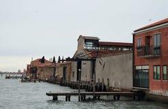 Pier in Venice, city of water Stock Photos