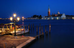 Pier in Venice at the night Stock Photos