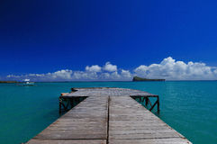 Pier View. A view of the Indian ocean Stock Photo