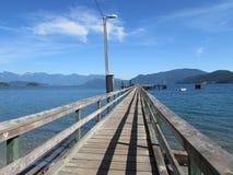Pier View Canadian Ocean Immagini Stock
