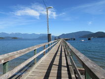 Pier View Canadian Ocean Stock Images