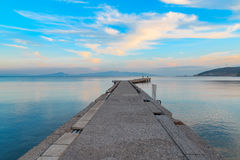 Pier view near marie beach area in datca, Turkey. Stock Photography