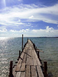 Pier view on sunny day Royalty Free Stock Image