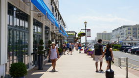 Pier Village at Long Branch in New Jersey. USA. Long Branch takes its name from the long branch or south branch of the Shrewsbury River Stock Image