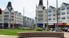 Pier Village at Long Branch in New Jersey. USA. Long Branch takes its name from the long branch or south branch of the Shrewsbury River Royalty Free Stock Photo
