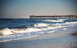 Pier on Virginia beach Stock Images