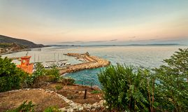 Pier von Elba-Insel stockbild