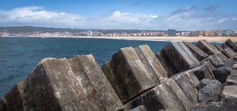 Pier von Figueira da Foz Stockfotos