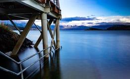 Pier von Puerto Rio Tranquilo stockbilder