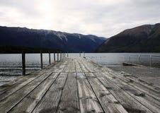 Pier von See Rotoiti Lizenzfreie Stockbilder
