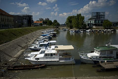 Pier, Vukovar, Croatia Royalty Free Stock Image