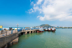 Pier in Vungtau, Vietnam Royalty Free Stock Photography