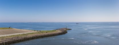 Pier in the Wadden sea at Den Helder. Netherlands royalty free stock photo