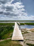 Pier in the wadden sea on Fano Royalty Free Stock Photos