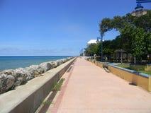 Pier walk. Walk on a Caribbean pier Royalty Free Stock Photos