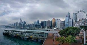 Pier Waterfront central imagem de stock