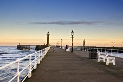 Pier at Whitby Stock Photography