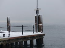 Pier in winter Stock Photography