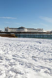 Pier winter snow brighton Stock Photo