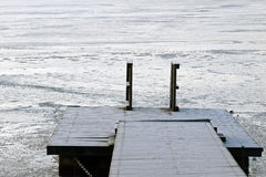 Pier on winter Royalty Free Stock Images