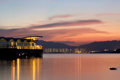 Pier With Long Exposure Royalty Free Stock Image