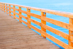 Pier wooden baltic sea promenade Royalty Free Stock Images