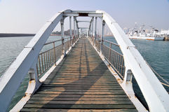 Pier wooden plank Stock Photo