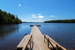 Pier wooden Stock Photo