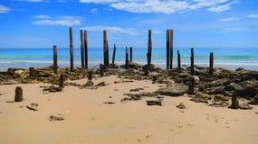 Pier Wreck Immagine Stock