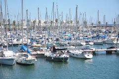 Pier yacht. S in Barcelona Spain stock photography