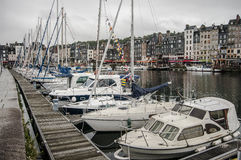 Pier with yachts Stock Image