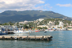 The pier in Yalta Stock Photo