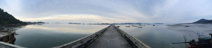 Pier zee overzeese menings houten boten royalty-vrije stock foto's