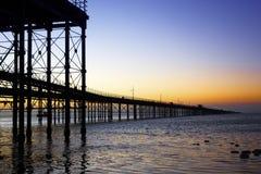 Pier zum Himmel Stockfotografie