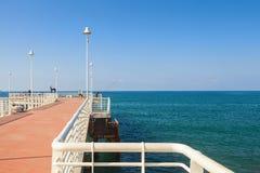 Pieransicht Jachthafendi Massa in Versilia lizenzfreies stockbild