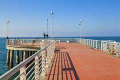 Pieransicht Jachthafendi Massa in Versilia lizenzfreies stockfoto