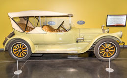 1929 Pierce Arrow Series 31 Sport touring. Fewer than a dozen survive in modern times.  On display at the American Car Museum, Tacoma, Washington. 9 May, 2015 Royalty Free Stock Photos