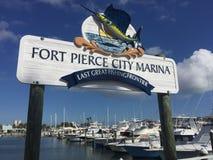Pierce City Marina forte, ultima grande località di soggiorno di pesca fotografia stock